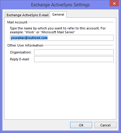 Changing the account name of an EAS account.