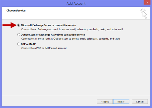 Yes, even on tablets and in Outlook RT you will make a connection to your Exchange server via an actual Exchange account and not an Exchange ActiveSync account. (Click on image to enlarge)