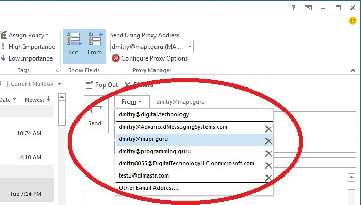 Aliases added as From address by Proxy Manager (click on image to enlarge)