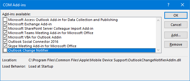 AutoComplete addresses lost in Outlook after restart - MSOutlook info