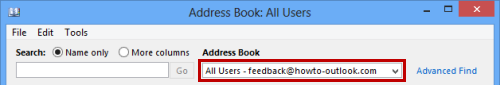 "Setting the Address Book to""All Users"" saves you from waiting for the OAB to update."