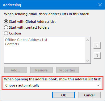 Address Book From Outlook