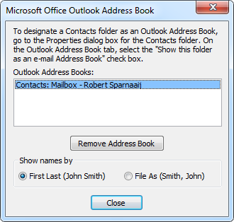 Address Book Service Properties