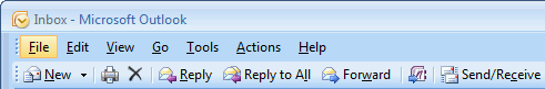 Underlined letters indicate the ALT keyboard sequences in Outlook 2007 and previous.