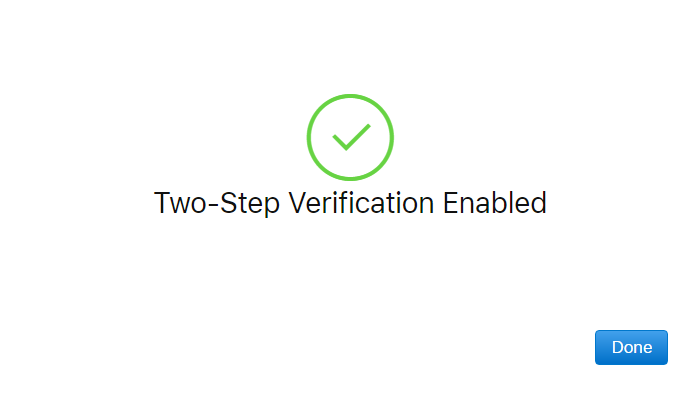 Apple ID - Two-Step Verification - Enabled