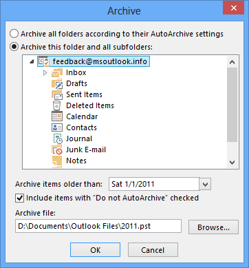 Splitting a pst-file into yearly archives - MSOutlook.info