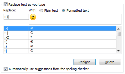 emoticon per outlook