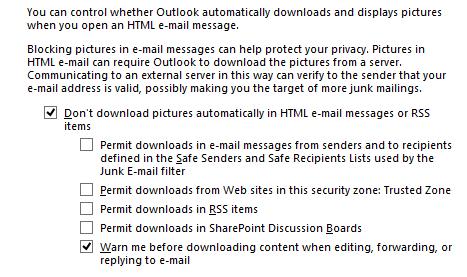 Contacting Server for Information - MSOutlook info