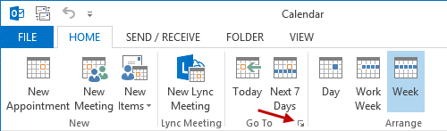 Jump to a specific date in the Calendar - MSOutlook info