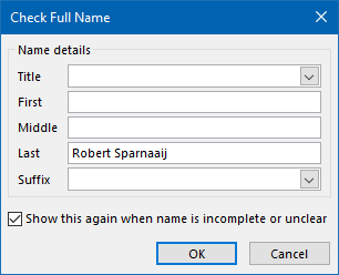 A Full Name field like this will also result in a sorting mix-up.