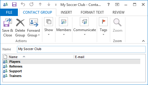 Combine or nest multiple Contact Groups into one - MSOutlook