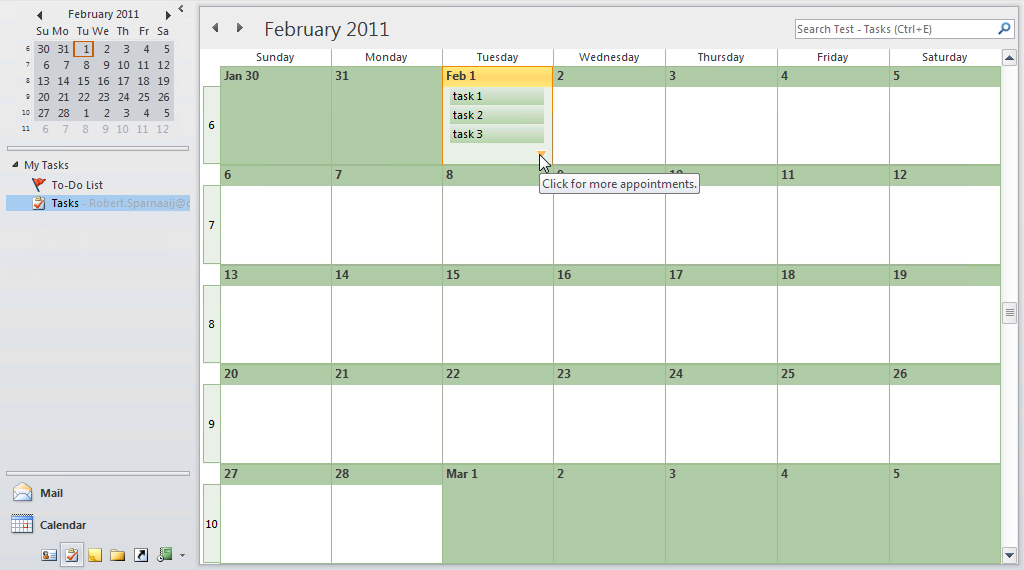 Click On The Down Arrow To Expand The Monthly View And Show All Tasks. (  Microsoft Daily Planner