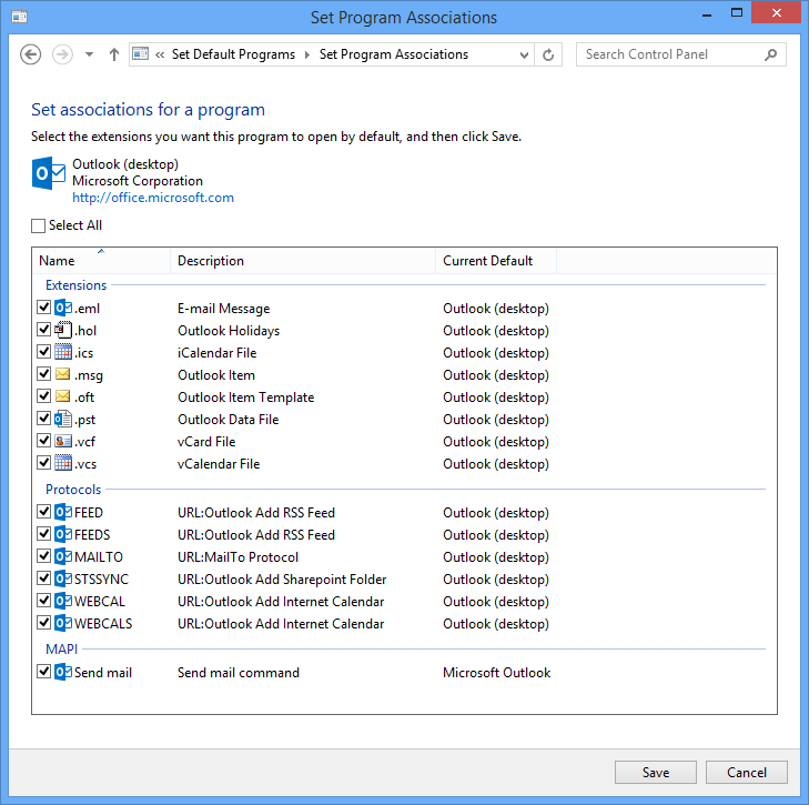 how to change thw default email program in windows 10