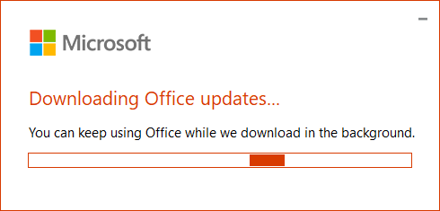 Downloading Office updates