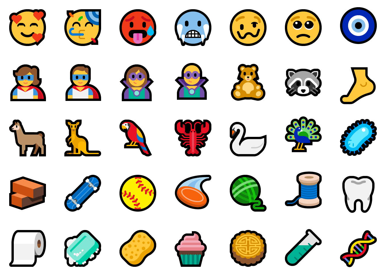157 new emoji with Unicode 11 in Windows 10 (1809)