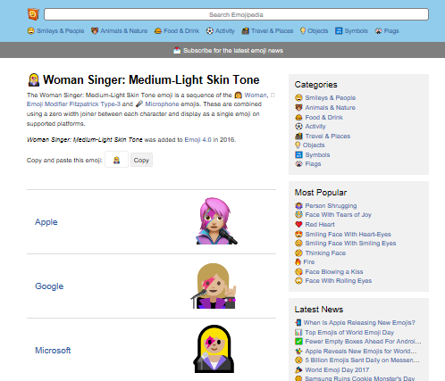 Changing the skin tone, gender or profession of an Emoji in Outlook