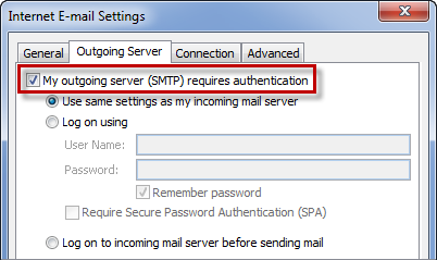 Enabling SMTP authentication allows you to send from basically anywhere.