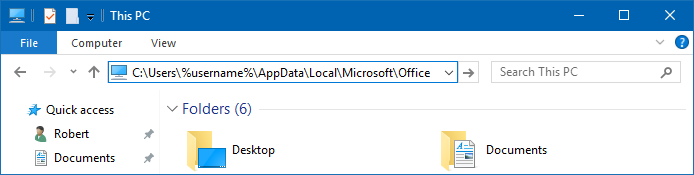 Pasting the path to the officeUI files in the Address Bar of File Explorer. (click on image to enlarge)