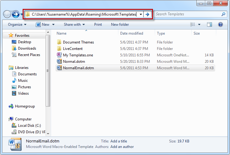 how to change location of appdata windows 7