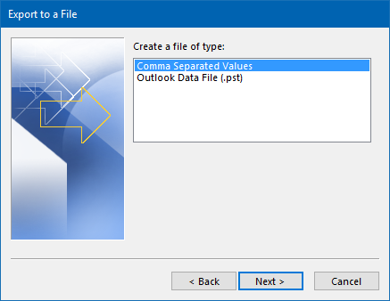 Exporting to or importing from Excel in Outlook 2013 and