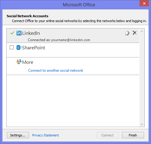 Do you still have the Facebook Connector listed under File-> Account Settings-> Social Network account?