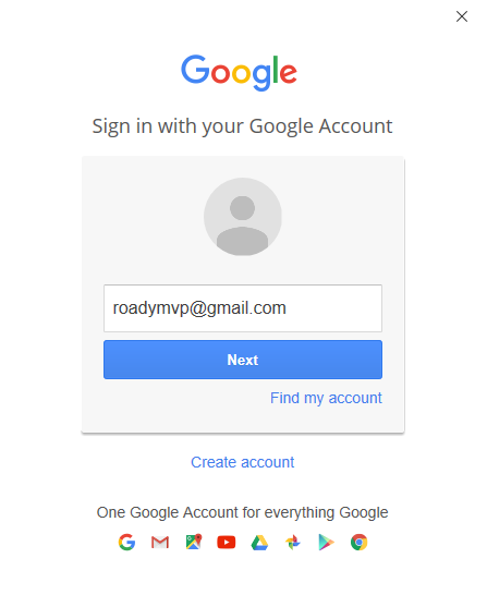 Provide your Gmail email address.