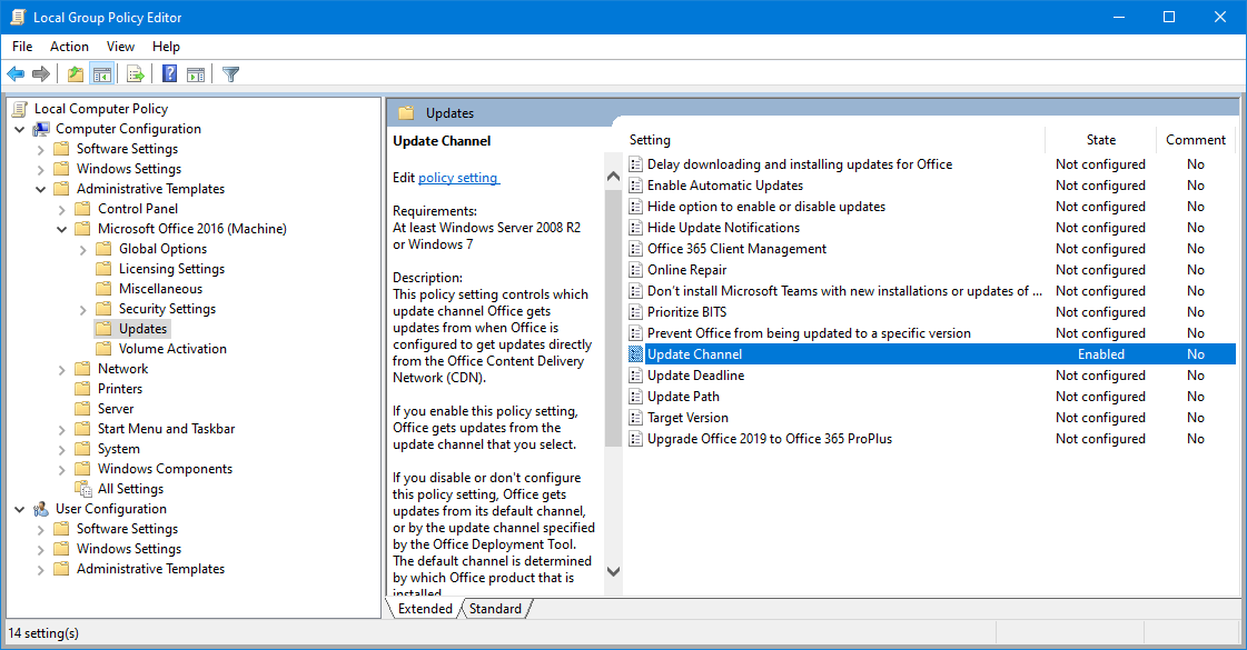 Office Group Policy Templates Switching Between Office 365 For Business Office Insider
