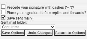 Set your IMAP Sent Items folder in Horde.