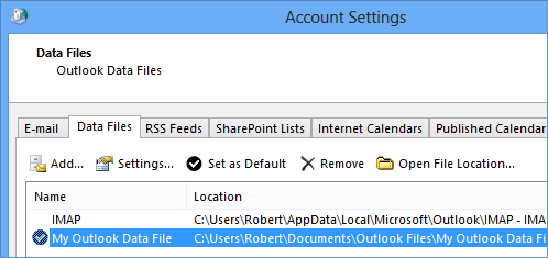 Set a pst-file as the default data file to make sure you don't lose any non-synched folders (click on the image to see the view dialog).
