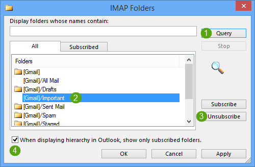"""Emails are being copied to """"Important"""" folder"""