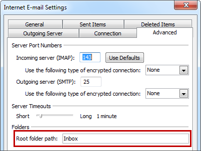 IMAP: Folder structure and Junk E-mail filter - MSOutlook info