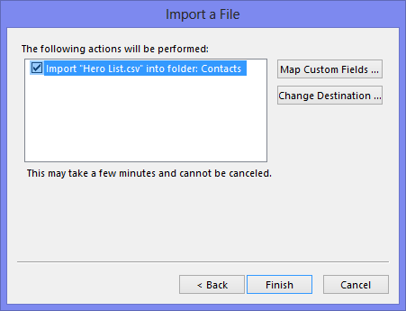 The final step to import your Contact Group members as individual contacts.