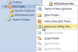 Import an OPML file