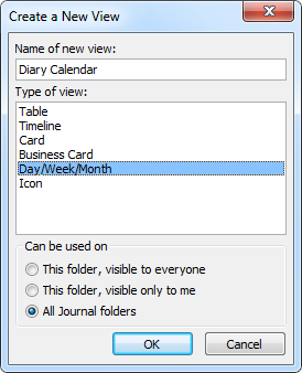 Creating a Calendar view for the Journal