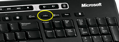 The Print Screen key is traditionally located above the navigation keys but can be located elsewhere on laptop-size keyboards.