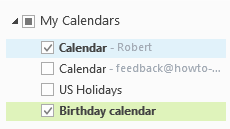 Outlook.com calendar in Outlook