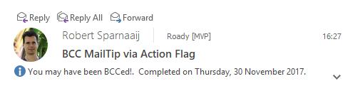 BCC MailTip via Action Flag