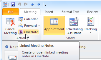 With OneNote's Outlook integration, you can quickly write and access meeting notes in OneNote which are also linked back to the Outlook item.