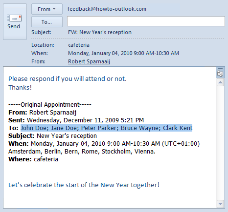email for invitation for meeting