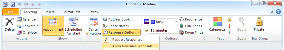 Why can't I see the Action Links when using Microsoft Outlook?
