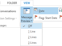 Disable Message Preview or configure to show it one or more lines.