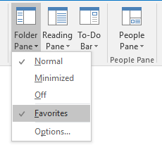 When you are in the Mail Navigation, you can enable/disable the Favorites section.
