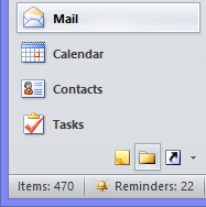 The Navigation Panel in Outlook 2010