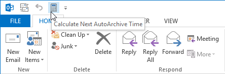Determine the next time AutoArchive will run - MSOutlook info
