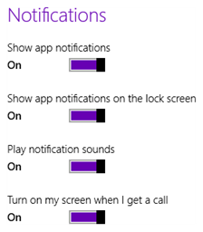 Windows 8 App Notification settings (click on image to enlarge)