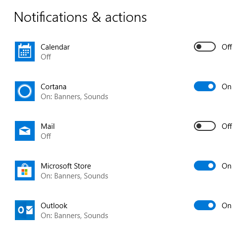 Double new email and calendar notifications on Windows 10