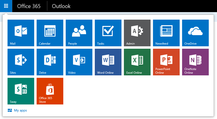 Office Calendar 365 : Shortcuts to mail calendar and people in outlook on the