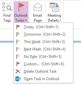 Creating an Outlook Task item from within OneNote.