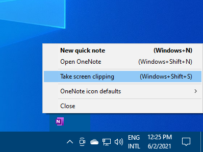OneNote also holds a screenshot creation feature which can be used for other applications as well.