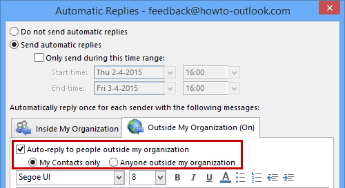 Out Of Office Assistant Not Replying Msoutlook Info